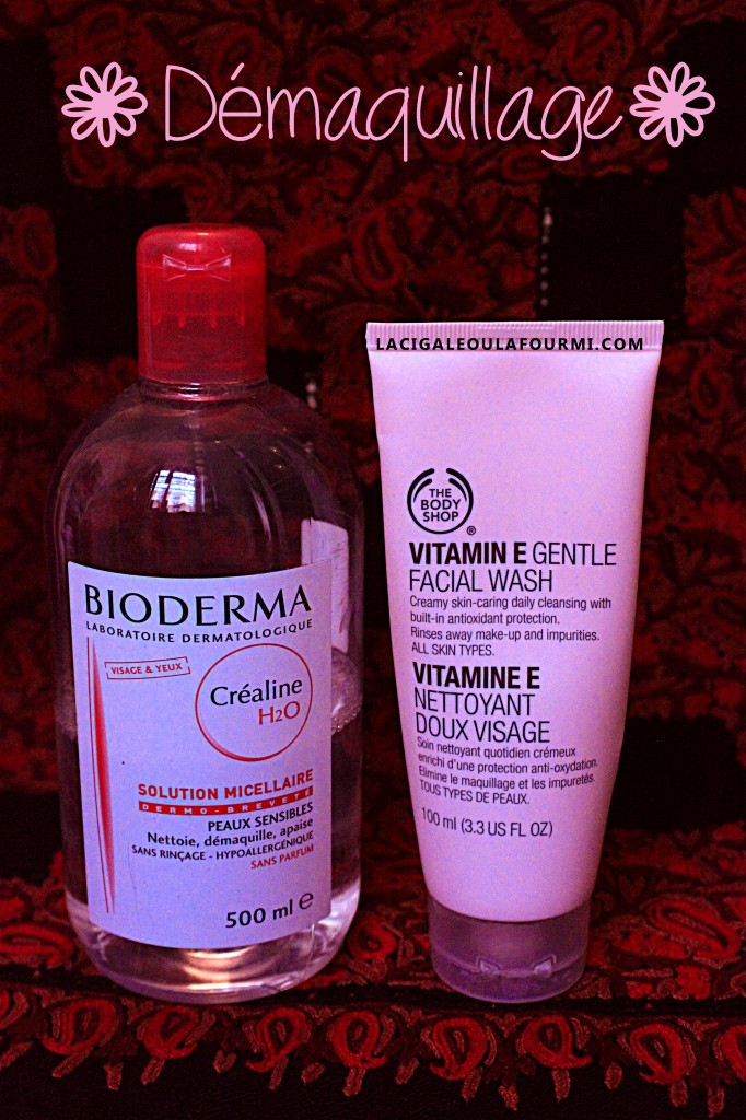eau micellaire, bodyshop, vitamine E, Démaquillage