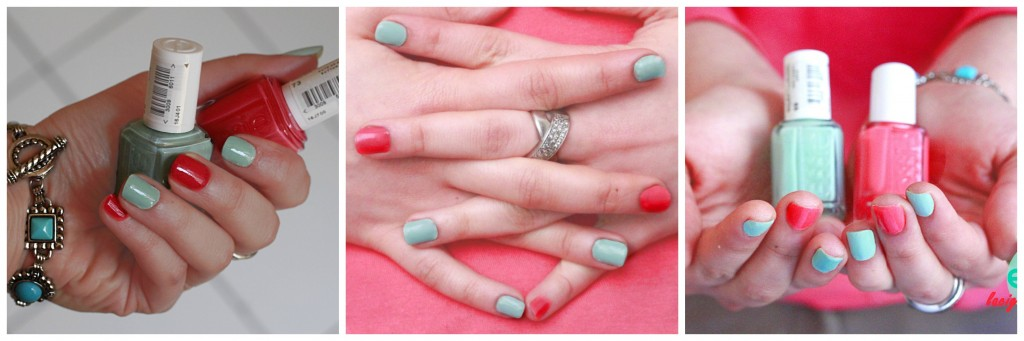 essie, vernis, cute as a button, mint candy apple, swatch