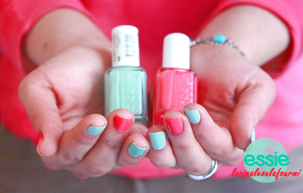 essie, cute as a button, mint candy apple