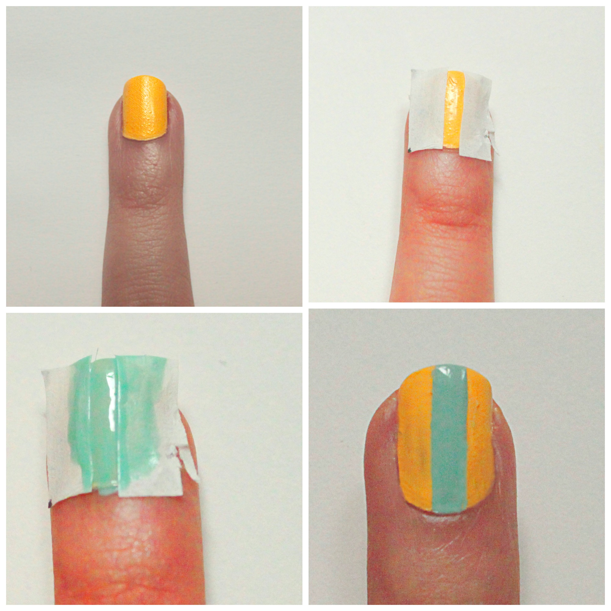 nail art, tuto, yellow, vernis, scotch