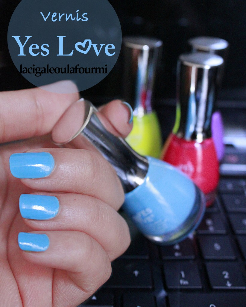 vernis, yeslove, bleu, swatch
