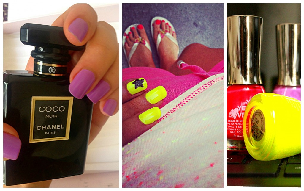 vernis, yeslove, jaune fluo, violet parme, swatch, chanel