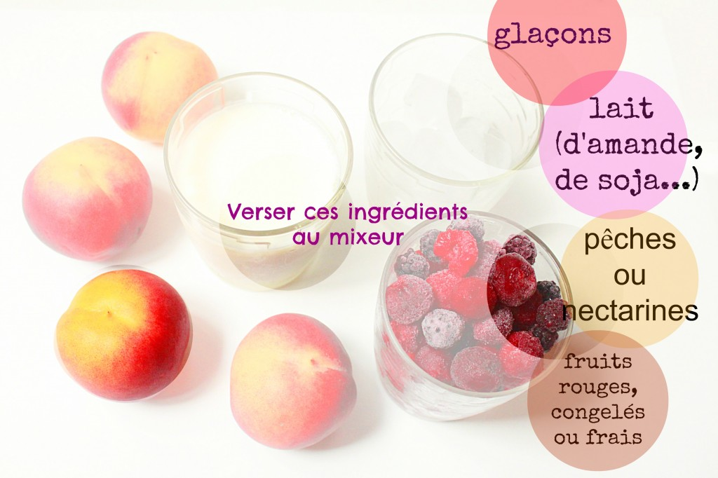 smoothie, ingrédients, fruits rouges