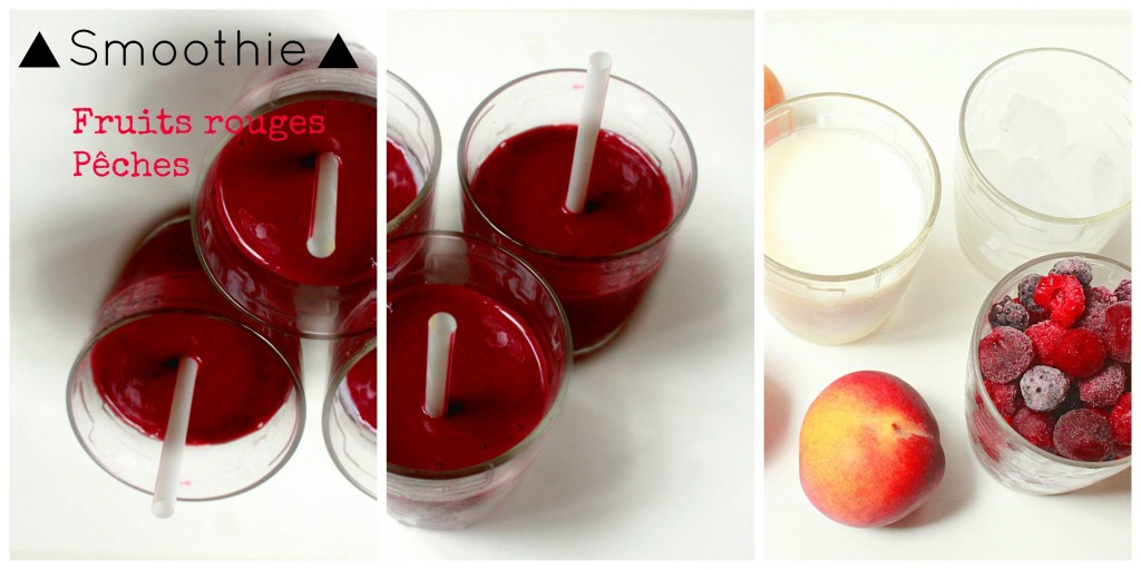 smoothie, fruits rouges, recette