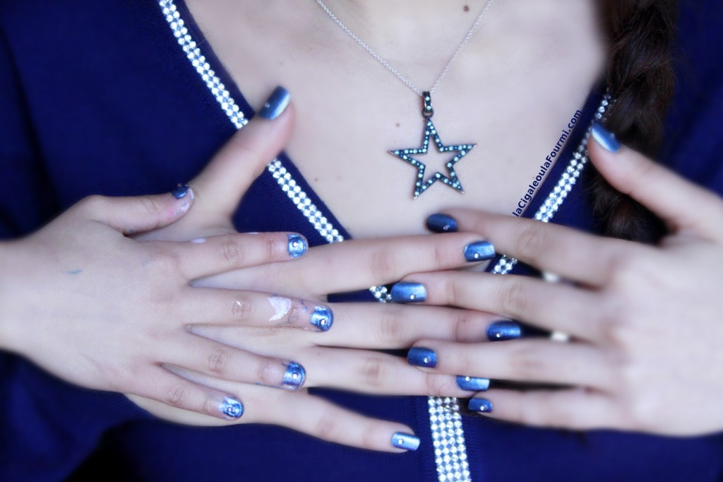 nail art, vernis, bleu, beautunails, royal rock's, étoile
