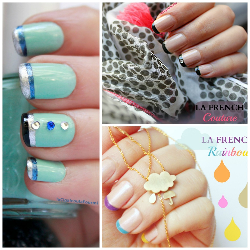 french manucure, nail art, vernis