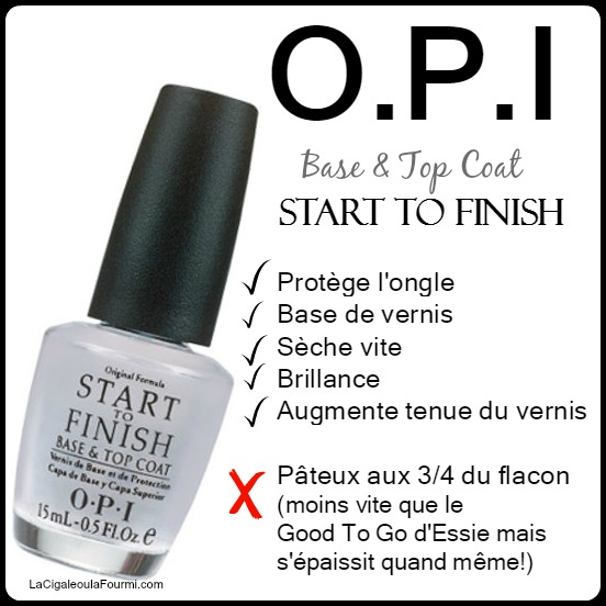 OPI Start to Finish , top coat, base coat