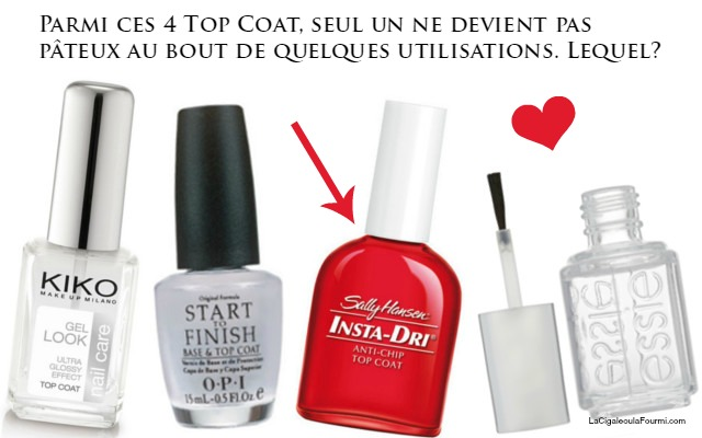 les top coat, sally hansen