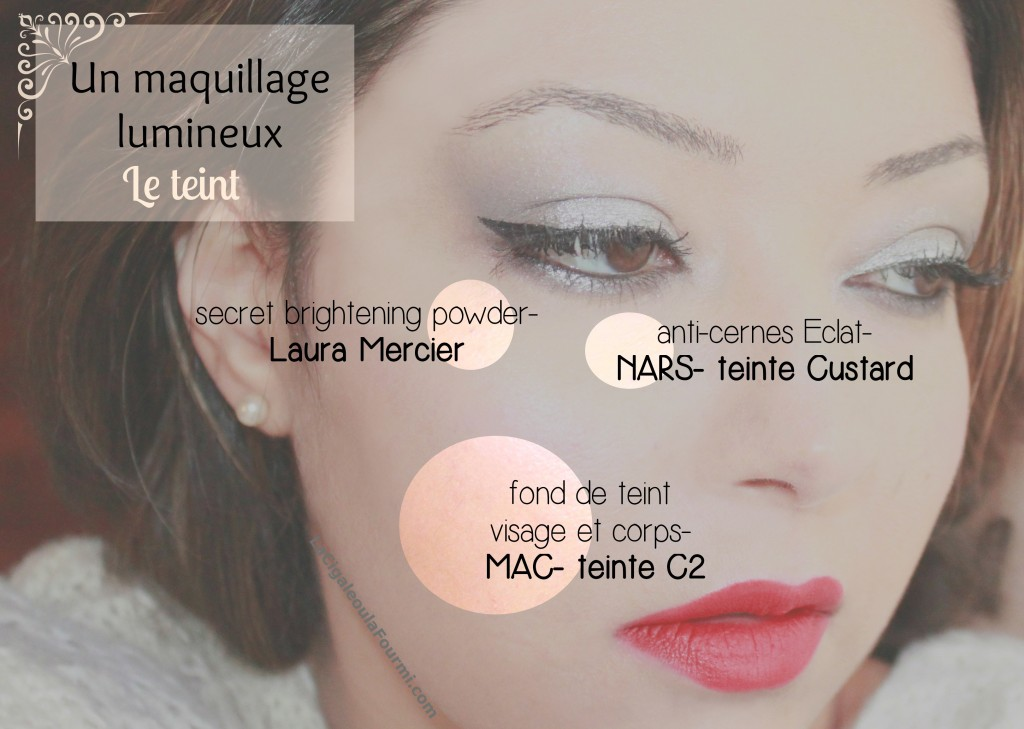 maquillage lumineux, le teint