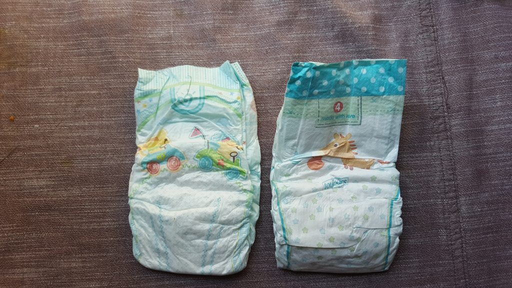 couches lidl, couches Pampers le comparatif