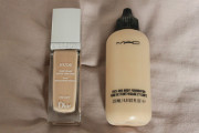 diorskin nude, mac foundation