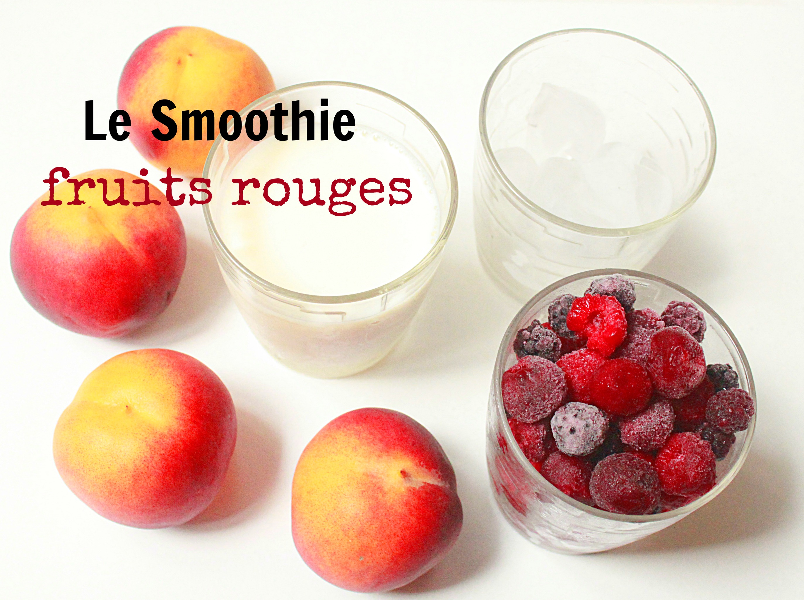 smoothie, fruits rouges, pêches, fruits, bienfaits
